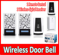 Wholesale Wireless Door Bell Remote Control Wireless digital Receiver Doorbell Chimes Songs Waterproof Wireless Doorbell