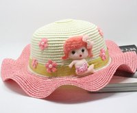 Cheap 2015 New Fashion Korean Children Hats Baby Straw Hat Summer Sun Hat for boys and girls Kids jazz hats baby hat Fashion Bonnet Sun hats merma