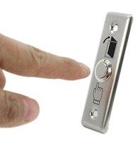 alluminium doors - 1PC Door Entrance Guard Switch Alluminium Alloy Door Exit Push Release Button For Access Control