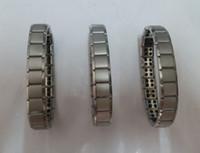 оптовых энергетические браслеты баланс мощности-2 015 Новый серебряный Титан браслет здоровья питания Нано браслет из нержавеющей энергии Германий Магнитный ионный баланс Мощный !!