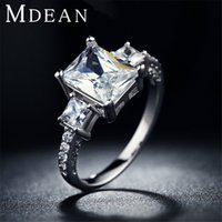 Wholesale white gold plated wedding rings jewelry For Women vintage Ring luxury Bijoux zirconia Accessories Engagement Bague MSR032