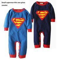 Wholesale Spring Autumn Baby Clothes M Toddler Romper Cartoon Superman Long Sleeve Baby Boy Girl Rompers One piece Jumpsuits