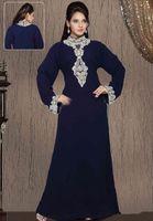 Cheap Muslim Dubai 2015 Vintage High Neck Long Sleeves Arabic Long Dress Islamic Hijab Muslim Clothing Women Kaftan Women Abayas Evening Dresses