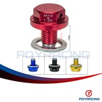 Wholesale PQY STORE NEW Type M10 Magnetic Oil Drain Plug Oil Drain Sump Nut Gold Blue Red Black PQY NODP10125