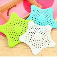 Wholesale 1pcs Bathroom Shower Drain Cover Starfish Hair Filter Sink Strainer ZH554