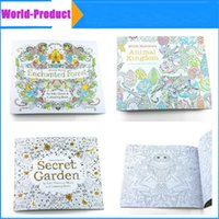 Wholesale Coloring Books Designs Secret Garden Animal Kingdom Fantasy Dream and Enchanted Forest Pages for Kids Adult Painting Books DHL