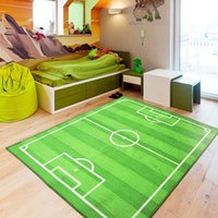 american football field size - 2016 New Child Green color world Cup football field carpet environmental protection non slip nylon bedroom rug size MMX1300MM