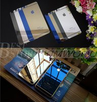 Wholesale Colorful Eletroplating Tempered Glass For iPhone s s Mirror Front And Back Colorful Film With Retail Package