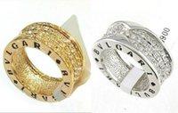 Wholesale 18K Gold Plated Crystal Rhinestone Elements Row Wedding gift Ring