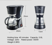 Wholesale New Portable Coffee Mill Drip Coffee Maker Automatic Electric Coffee Machine Cups Coffee Grinder Stainless Moka Maker