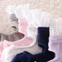 ballet shoes cartoon - HOT toy kids baby cotton socks anti slip Cute Cartoon lace ballet shoes Baby SUMMER Socks girl years