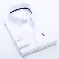 Wholesale Men Long Sleeve Oxford Dress Shirt Plus Size XL XL Fashion Multi Color Business Men Casual Solid Shirt XK203