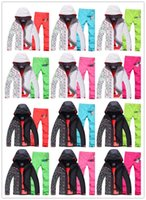 Wholesale 2015 Gsou snow womens ski suit female snowboarding skiing suit women s snow suit white jacket and multicolor ski pants skiwear sports suit