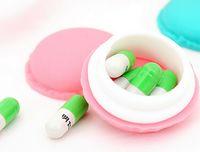 pill box - Silicone Macaron Shape Pill cases Splitters Silicone pill case Silicone jewelry box Sweet Macaron pill box