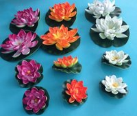 Wholesale Artificial Flowers EVA Foam Water Lily Lotus Simulation Pond Waterlily Colorful Perfect Decoration Baptism Wedding Party Decoration