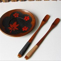 Wholesale 2015 New Wood Flavoring Spoon Soup Hand Made Long Mixing Muddler Deco