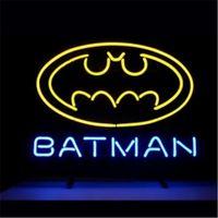 batman store - BATMAN COMIC HERO LOGO HANDICRAFT NEON SIGN REAL GLASS TUBE LIGHT BEER BAR PUB STORE x11 quot