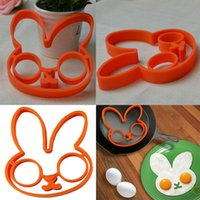 Wholesale HOT Breakfast Silicone Rabbit Animal Fried Egg Mold Pancake Egg Ring Shaper Funny Creative Kitchen Tool