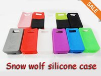 Wholesale Multi colors Snow wolf silicone case Protective Sleeve Cover for Snow Wolf w VS Sigelei subox mini silicone case free DHL coloful
