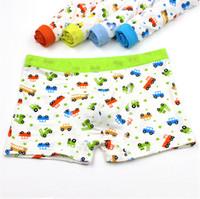 kids underwear - Kids Underwear New Small Truck Elastic Modal Boxers Boys Underwear Print Cartoon Piece Kids Underwear for Boys