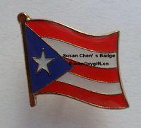 puerto rico - PUERTO RICO Metal Flag Badge Flag Pin