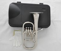 alto horn - New Silver Nickel Eb Alto Horn Piston With Case