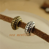 Wholesale pieces MM antique bronze silver plated vintage style round carved hole beads diy jewelry hm528