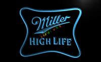 ad bars - LE077 TM Miller High Life Beer Ad Bar Pub Neon Light Sign