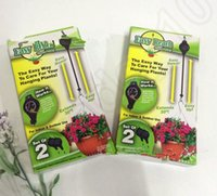 Wholesale 1set Easy Reach Hanging Basket Pull Down Pulley Garden Plant Hanger Retractable Pulley Plant Pots Recoil Hook KKA34 sets