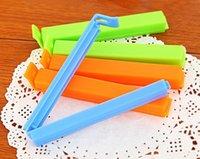 Color bolsa de plástico clip de más tamaño sellador para accesorios comida condimentación paquete de basura de la cocina del hogar de la novedad