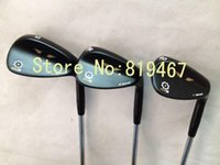 Wholesale golf clubs black SM5 wedges loft with steel shaft golf wedge set right hand
