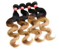 Cheap 300g Lot 1b27# Brazilian Body wave Virgin Brazilian Hair Remy Human Hair Extensions Unprocessed Human Hair Wefts Hair Weave