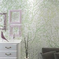 bedroom dimensions - Tree Forest D Foam Embossed Non woven Wall Paper Roll Three dimension Living Room Bedroom Ceiling Mural Wall Paper Home Decor