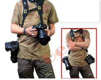 Wholesale Double Dual Shoulder Strap Belt Holster for DSLR Camera Canon Nikon Sony