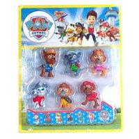 Wholesale 6 Style Ryder Patrol Dog cartoon toys new children Ryder Patrol Dog lovely cartoon plastic toys