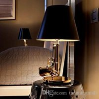 Wholesale Modern Flos Lounge Gun AK47 Chrome Gold Gun Starck Design Philippe Bedroom Table Lamps Desk Light Read Night Light Super Light
