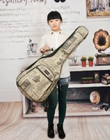 acoustic cloth - Oxford cloth newspaper acoustic guitar bag inch folk backpack set of waterproof thickening Case bag