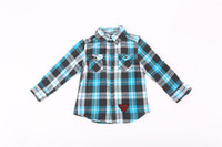 baby gifts clothes - Kids Baby Boy Shirts Childrens Clothing Plaid Home Cotton Pocket Long Sleeved Turn Down Collar Thanksgiving Day Casual Gift