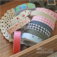 Wholesale 2014 fashion colorful Cotton printing tape DIY design printing masking tape hot selling different styles