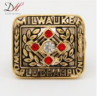 milwaukee - 2015 Hot selling sport jewelry Milwaukee Braves Baseball Team Championship Ring World Series Rings Hank Aaron For Men Accessories