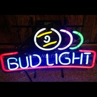 anheuser busch - BUD LIGHT NEON BAR LIGHT pool ball BEER SIGN x13 quot ANHEUSER BUSCH budweiser Avize Nikke Air Jordann Neon Sign Bud Light