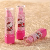 award gifts - 2015 New Lipstick shape eraser Korean creative stationery school supplies pupil award gift High quality
