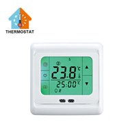 Wholesale Underfloor Heating Thermostat Weekly Programmable Touch Screen Room Temperature Controller Thermostat Green Backlight