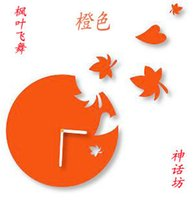 artistic direct - Factory Direct artistic hanging clocks wall clocks flying Maple Leaf new crazy