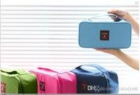 accessory kit brown - 2015 HOT Outdoor Travel Bag Pouch Clothes Accessories Case Insert Handbag Underwear Bra Storage Waterproof Toiletry Kits organizer P LB9