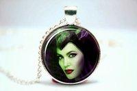 angelina jolie photos - 10pcs Maleficent Angelina Jolie Sleeping Beauty Necklace Glass Photo Cabochon Necklace