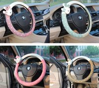 Wholesale Lady Plush Steering Wheel Covers Pink Wrap Dish Sets Cute Gilrs Steering Wheel Wrap