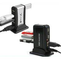 Wholesale USB HUB Ports Splitter High Speed USB HUB US AU EU Plug Adapter Cable Charger for PC Laptop