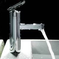 Wholesale Bathroom Basin Chrome Faucet Waterfall Kitchen Sink Mixer Tap Single Handle New order lt no track