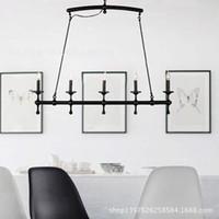 bedroom wall design ideas - Industrial wind Edison retro design ideas bedroom wall sconce candle chandelier horizontal bar RH